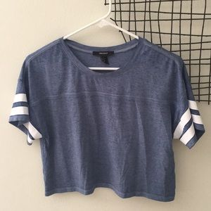 Forever 21 Blue Cropped Tee